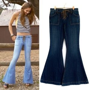 Bell Bottom Jeans LF Carmar Jen Lace Front Dark